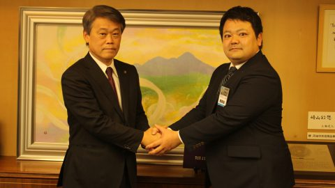 京丹後市市長へ表敬訪問しました